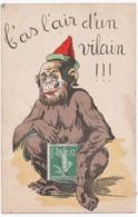 ANIMAUX. SINGE FUMANT La PIPE. 1921. - Singes