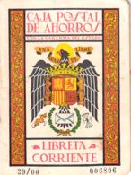 ESPAÑA CARTILLA DE AHORRO LIBRETA CORRIENTE CAJA POSTAL DE AHORROS L - Documentos Históricos