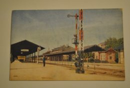 67 Bas Rhin Bahnhof Appenweier Interieur De Gare Avec Un Agent Cheminot - France