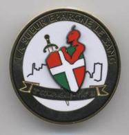 """Broche De L'insigne Militaire Du 110° Régiment D'Infanterie / 2° Compagnie. 'La Sueur épargne Le Sang"""" - Hueste"""