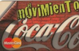 ESPAÑA, CREDIT CARD - TARJETA DE BANCO, SANTANDER CENTRAL HISPANO. EL MOVIMIENTO COCA COLA. ES-MC-0017.(1000). - Krediet Kaarten (vervaldatum Min. 10 Jaar)