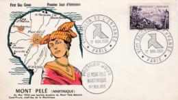 1041 De 1955 - Enveloppe 1er Jour  - Le Mont Pelé Martinique - FDC