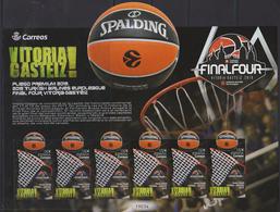 Spain (2019) - MS -  /  Basketball - Baloncesto - Basquet - UNUSUAL Textile On Stamp - Baloncesto