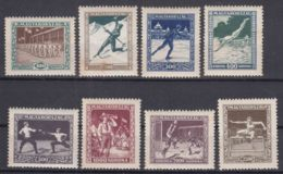 Hungary 1925 Sport Mi#403-410 Mint, Yellow Rust Spots - Nuevos
