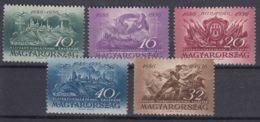 Hungary 1936 Mi#538-542 Mint Never Hinged - Unused Stamps