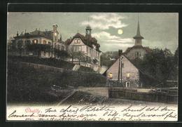 AK Lausanne-Chailly, Ortspartie Mit Vollmond - VD Vaud