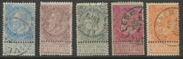 "Léopold II ""petite Barbe"", COB 60-61-63-64-65 - 1893-1907 Armarios"
