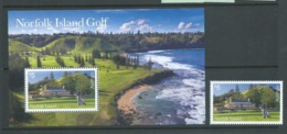 Norfolk Island 2018 Golf $5 Single & Miniature Sheet MNH - Norfolk Island
