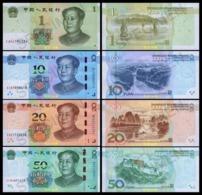 China 1-10-20-50 Yuan/RMB, (2019), Hybrid, UNC - Cina