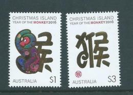 Christmas Island 2016 Chinese New Year Monkey Set MNH - Christmas Island