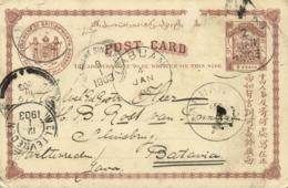 North Borneo 1903 KUDAT To KNIL General Rost Van Tonningen In Batavia READ!!! - Malaysia