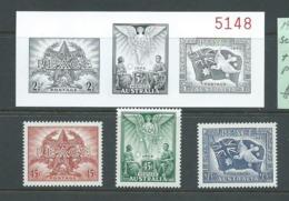 Australia 1995 Peace Set Of 3 MNH & Black & White Proof Of 1946 Original Set - 1990-99 Elizabeth II