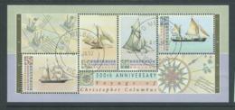 Australia 1992 Australia Day Columbus & Ships Miniature Sheet CTO FDI Full Gum , Corner / Edge Fault - 1990-99 Elizabeth II
