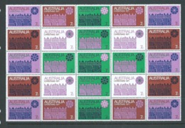 Australia 1971 Christmas Block Of 25 MNH , Creased And Other Faults - 1966-79 Elizabeth II