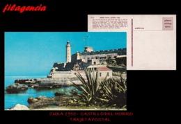 TRASTERO. CUBA. ENTEROS POSTALES. TARJETA POSTAL 1950. HABANA. CASTILLO DE LOS TRES REYES DEL MORRO - Cuba