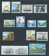 Ships & Boats 1998 / 1999 Selection Of 15 Ex Various Countries Very Fine MNH - Ships
