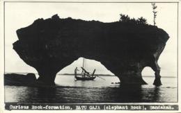 British North Borneo, Sabah, SANDAKAN, Batu Gaja Elephant Rock (1940s) RPPC - Malaysia
