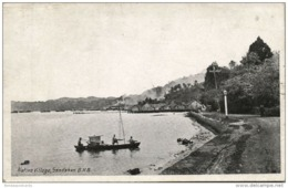 British North Borneo, SABAH SANDAKAN, Native Village, Fishing Boat (1920s) - Malaysia