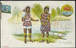 British North Borneo, SABAH, Native Dayak People, Flag, Coat Of Arms (1930s) - Malaysia