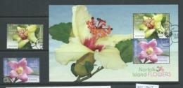 Norfolk Island 2017 Flowers Set 2 & Miniature Sheet FU - Norfolk Island