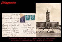 EUROPA. ALEMANIA ORIENTAL. ENTEROS POSTALES. TARJETA POSTAL CIRCULADA 1971. BERLÍN. ALEMANIA ORIENTAL-BOGOTÁ. COLOMBIA - [6] República Democrática