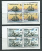 Pitcairn Islands 1990 Ships 20c & 90c Booklet Stamps New Watermark Booklet Panes Of 4 FU - Stamps