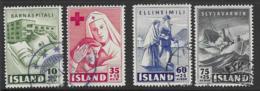 Iceland Scott # B7-8,B10-11 Used Charities, 1949 - 1944-... Republic
