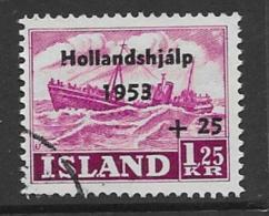 Iceland Scott # B13 Used Ship Surcharged, 1953 - 1944-... Republic