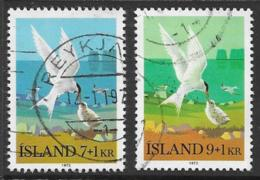 Iceland Scott # B23-4 Used Arctic Terns, 1972 - 1944-... Republic