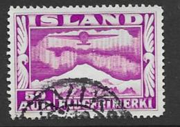 Iceland Scott # C18 Used Plane Over Aurora, 1934 - Airmail