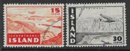 Iceland Scott # C21-2 Used Thingvellir, Isafjorthur, 1947 - Airmail