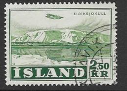 Iceland Scott # C28 Used Eiriksjokull, 1952 - Airmail