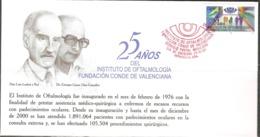 2001 MÉXICO FDC 25 Años Del Instituto De Oftalmología Fundacion Conde De Valenciana, Ophthalmology Institute, Health - Mexico
