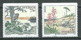 Suède YT N°2104/2105 Europa 1999 Parcs Nationaux Oblitéré ° - Europa-CEPT