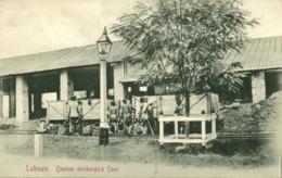 Malay Malaysia, LABUAN BORNEO, Coolies Discharging Coal Train, Mining (1910s) - Malaysia