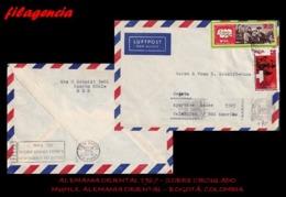 EUROPA. ALEMANIA ORIENTAL. ENTEROS POSTALES. SOBRE CIRCULADO 1967. MUHLE. ALEMANIA ORIENTAL-BOGOTÁ. COLOMBIA - [6] República Democrática