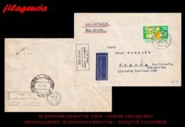 EUROPA. ALEMANIA ORIENTAL. ENTEROS POSTALES. SOBRE CIRCULADO 1964. HERINGSDORF. ALEMANIA ORIENTAL-BOGOTÁ. COLOMBIA - [6] República Democrática