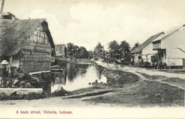 Malay Malaysia, LABUAN VICTORIA BORNEO, A Back Street (1910s) Postcard - Malaysia
