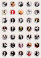 105 X Charles Aznavour Music Fan ART BADGE BUTTON PIN SET 1-3  (1inch/25mm Diameter) - Musique