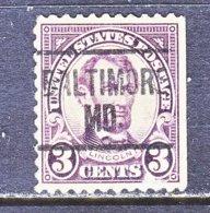 U.S. 555   Perf. 11   *   MARYLAND    1922-25  Issue - Precancels