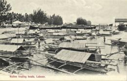 Malay Malaysia, LABUAN BORNEO, Native Trading Boats (1910s) Postcard - Malaysia
