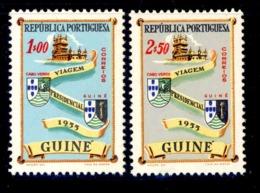 ! ! Portuguese Guinea - 1955 Presidential Visit (Complete Set) - Af. 282 To 283 - MNH - Guinée Portugaise