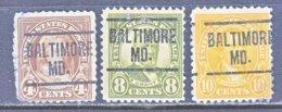 U.S. 556   Perf. 11   (o)   MARYLAND    1922-25  Issue - Precancels