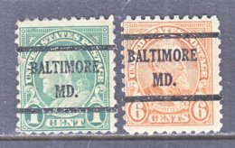 U.S. 581, 587   Perf. 10   (o)   MARYLAND    1923-26  Issue - United States