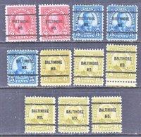 U.S. 634 +   Perf. 11 X 10 1/2   (o)   MARYLAND    1926-34  Issue - Precancels