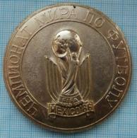 USSR / Medal / Soviet Union / UKRAINE. Football FIFA Cup World Championship 86 Italia 1986 - Tokens & Medals