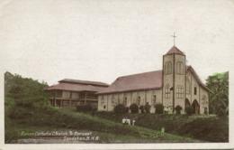 British North Borneo, SABAH SANDAKAN, Roman Catholic Church (1920s) Postcard - Malaysia