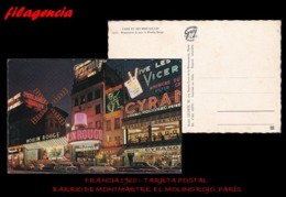 PIEZAS. FRANCIA. ENTEROS POSTALES. TARJETA POSTAL 1950. PARÍS. MONTMARTRE. LE MOULIN ROUGE - Francia