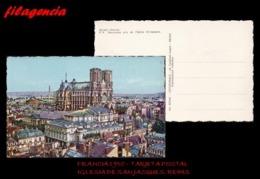 PIEZAS. FRANCIA. ENTEROS POSTALES. TARJETA POSTAL 1950. REIMS. IGLESIA DE SAINT JACQUES - Francia