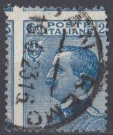 ITALIA - 1908 - Yvert 79, Usato, Varietà Eccezionale, UNICO Esemplare Noto. - 1900-44 Victor Emmanuel III.